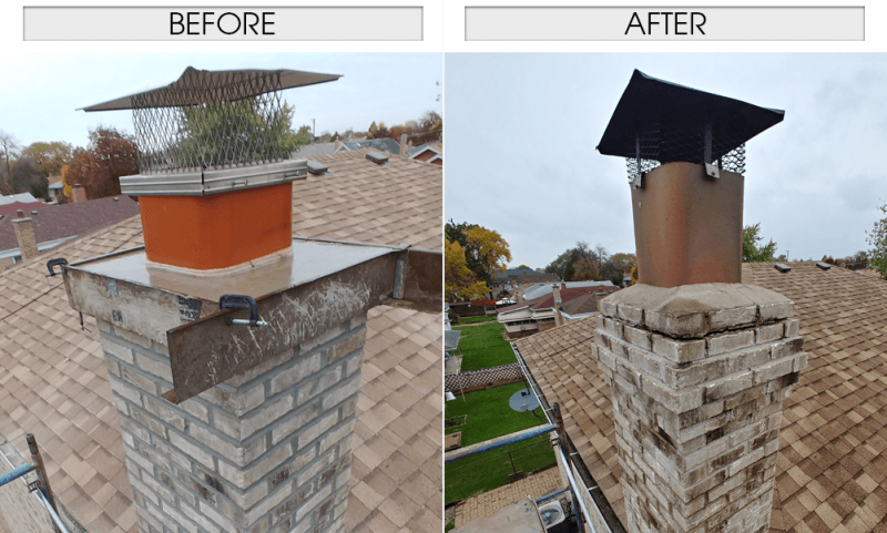 Chimneys: Before and After