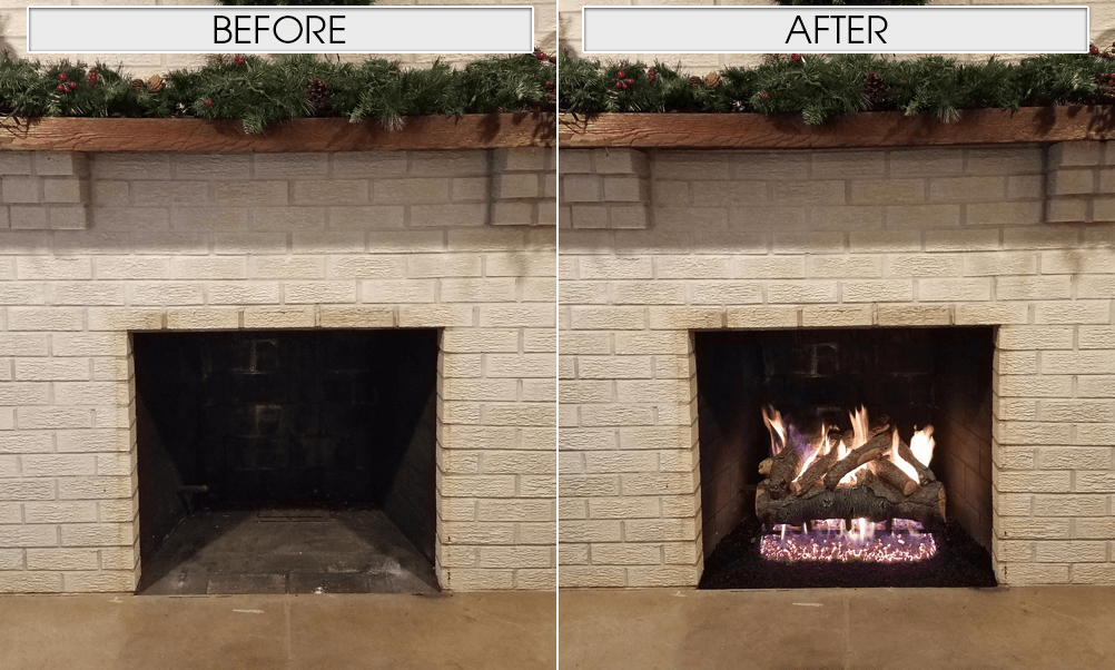 Gas Logs: Before and After