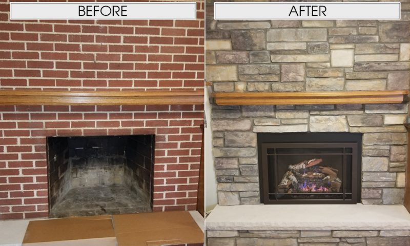Fireplaces: Before and After